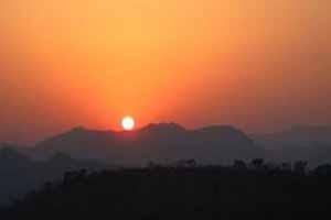 普西山日落