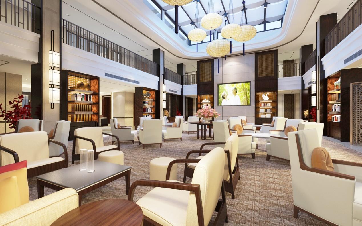 图三为新东苑快乐家园大堂吧。